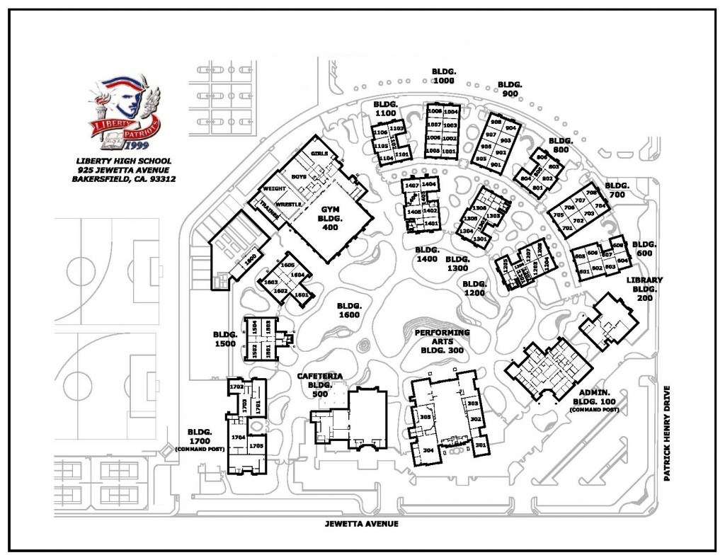 School Campus Map.Campus Maps Miscellaneous Liberty High School