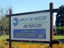 SIGN WITH WINGS OF HISTORY AIR MUSEUM