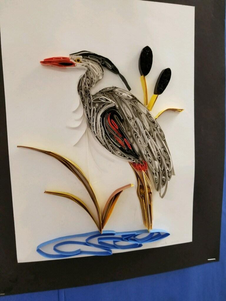 bird made out of flower