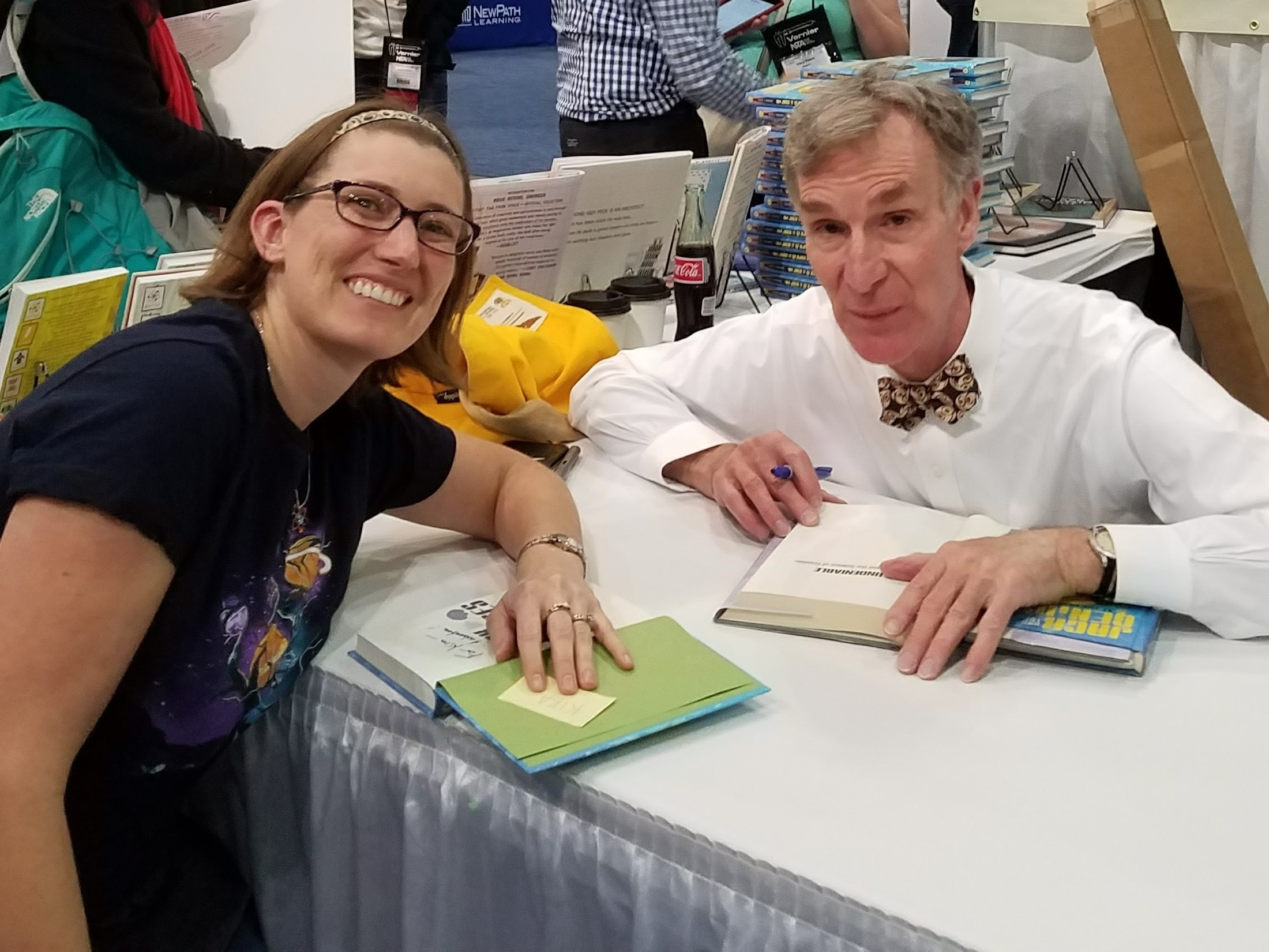 Mrs. Dutton with Bill Nye at the 2017 NSTA Conference