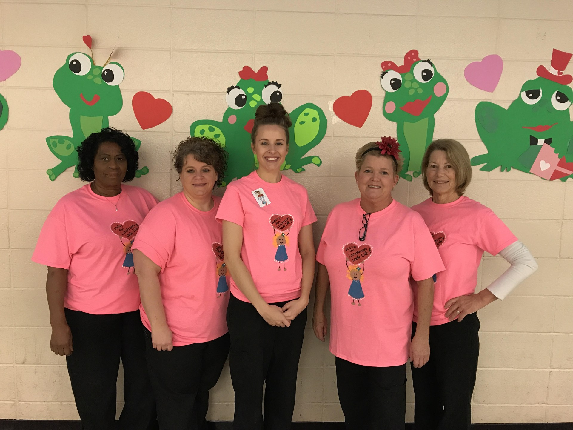 Our Cafeteria staff at North Newton Elementary have a Heart for students!