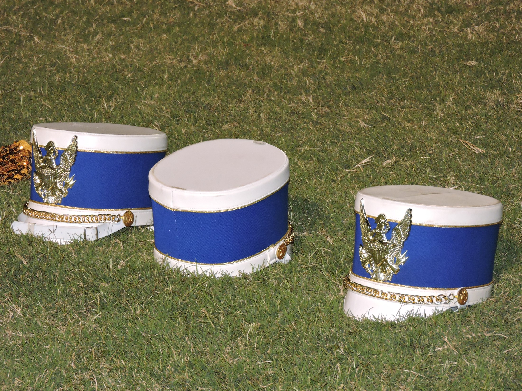 band hats on the field