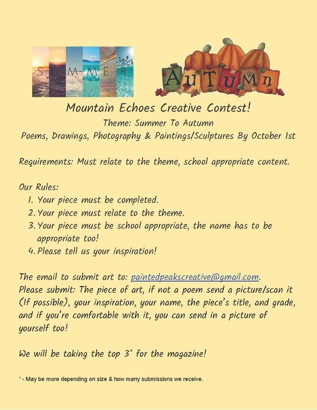 Mountain Echoes Student Journal Poster