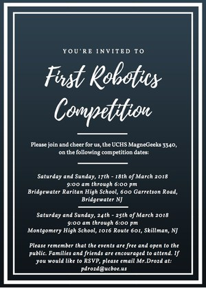 robotics competition invitation