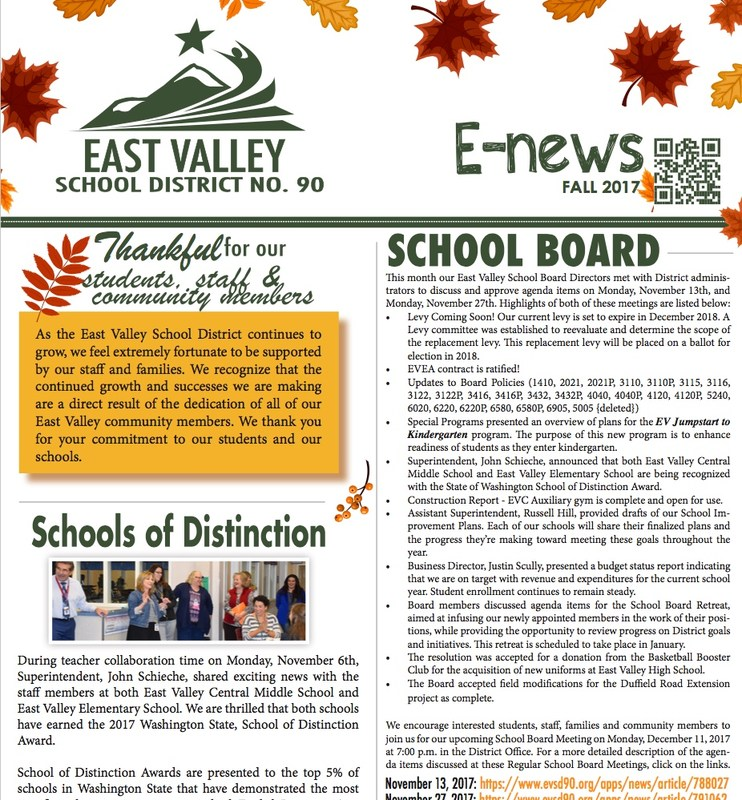 Picture of the Fall E-News cover