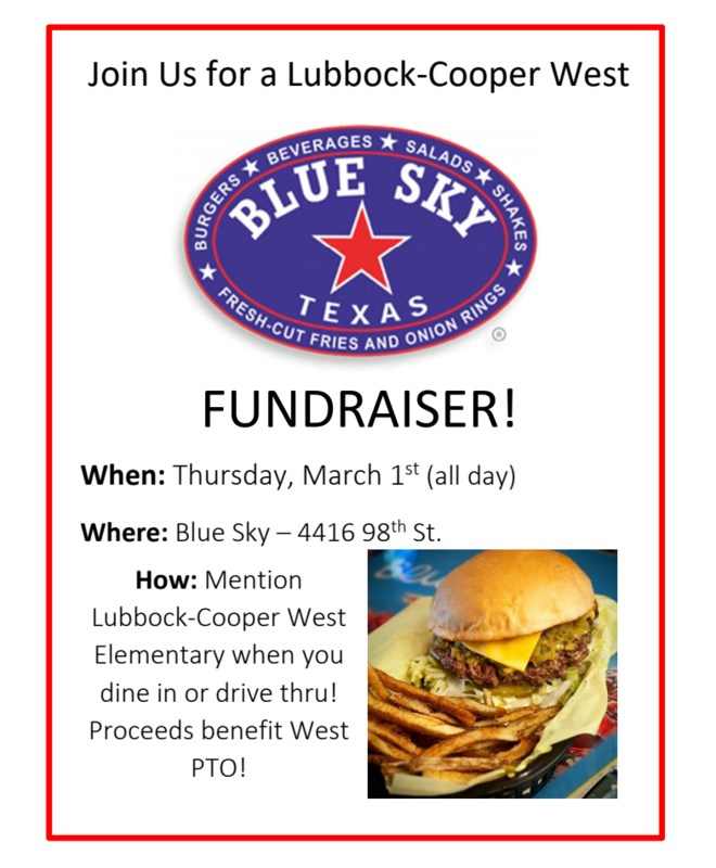 Blue Sky Fundraiser Night Thursday, March 1 Thumbnail Image