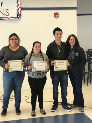 Monica Gonzales with her achievers