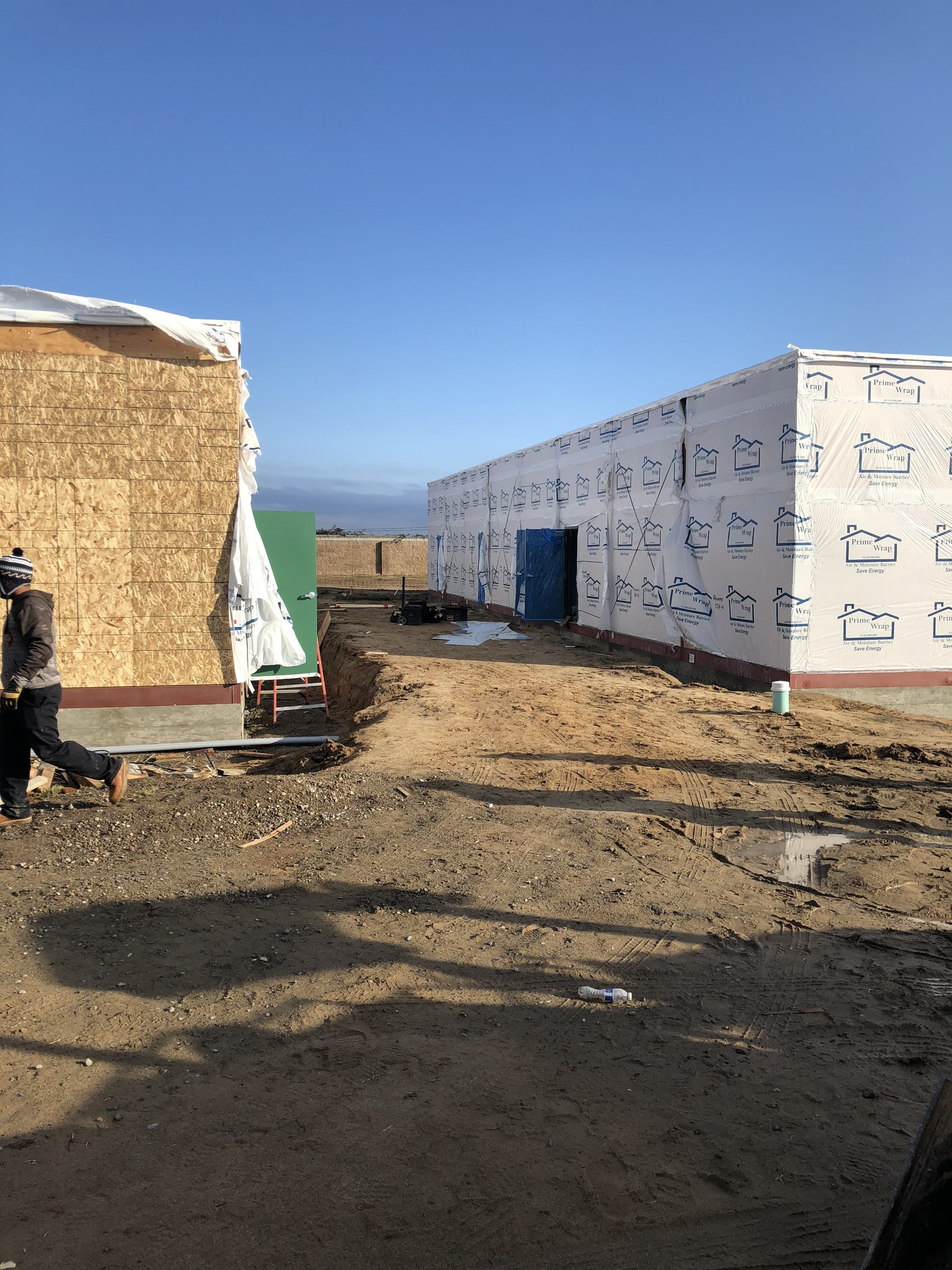 Outside of portable classrooms