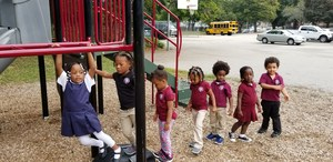 Preschoolers on the playground