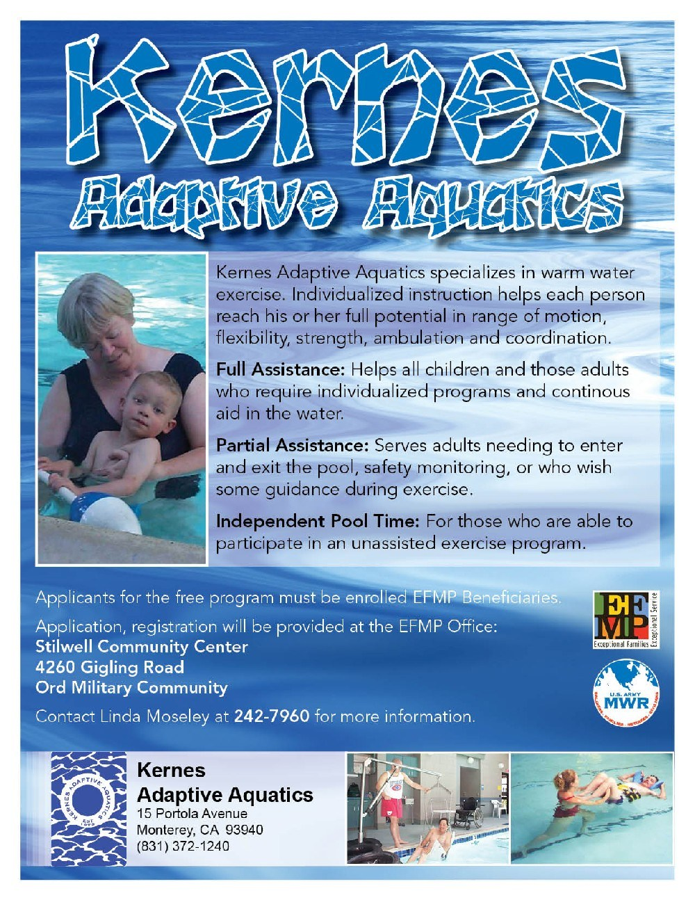 Flyer: Kernes Adaptive Aquatics
