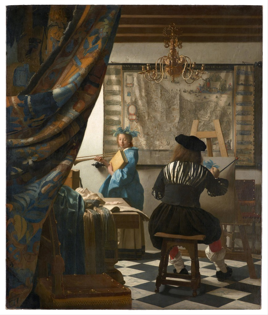 The Allegory of Painting by Johannes Vermeer