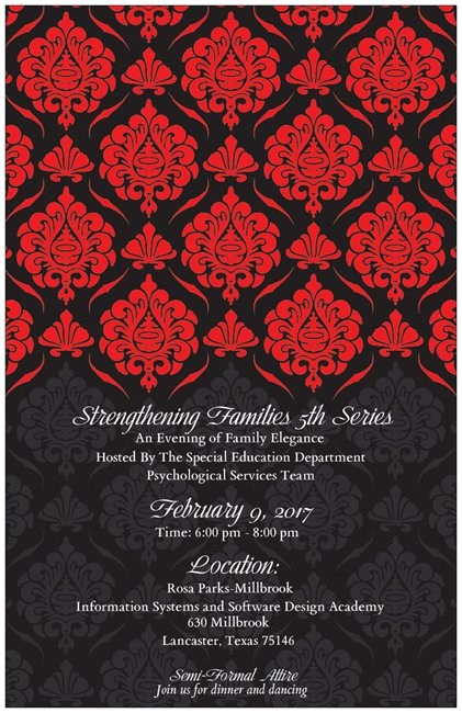 An Evening of Family Elegance to be hosted by the Lancaster ISD Special Education and Special Programs Department Thumbnail Image