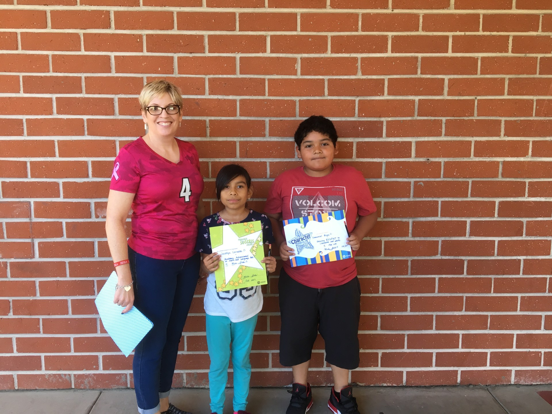 Mrs. Lies' October Honorees