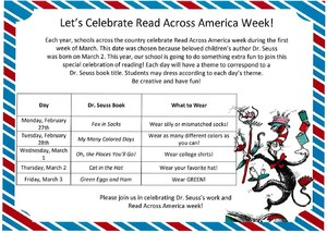 Read Across America flyer