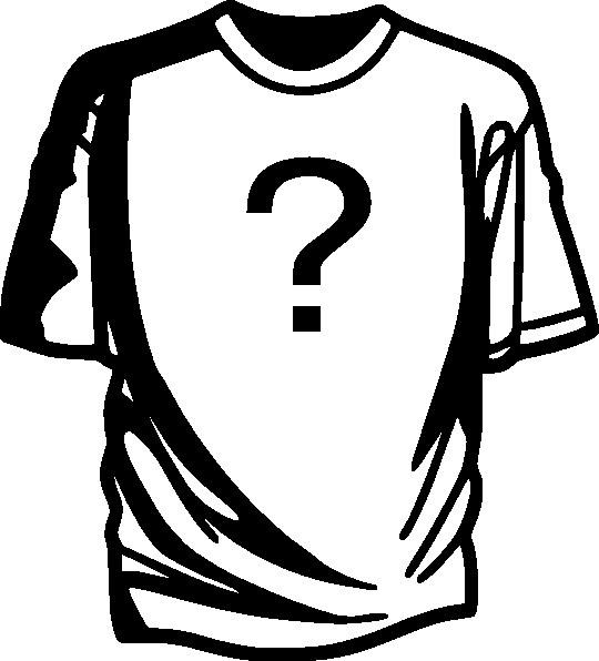 question mark on tshirt