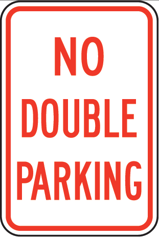**NO DOUBLE PARKING** Featured Photo