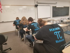 Gananda Mathletes Working Hard to Solve Their Math Questions