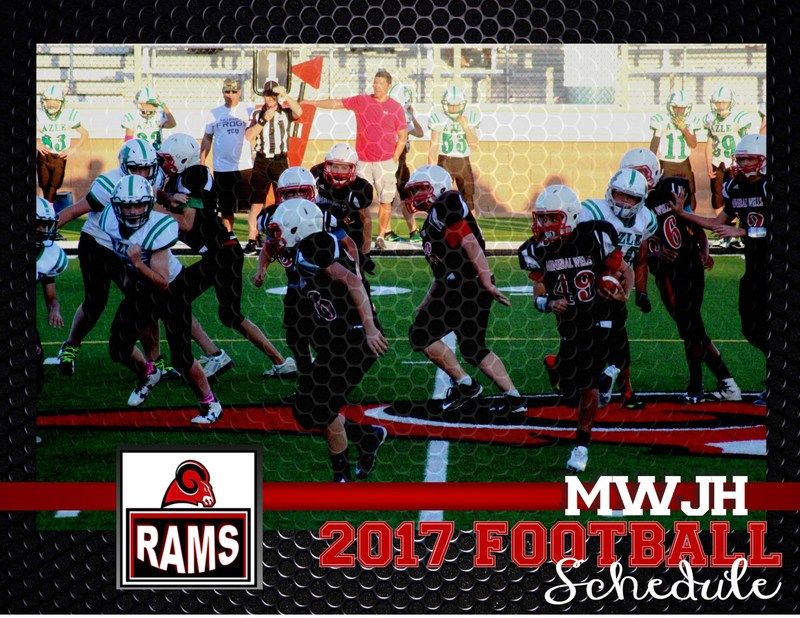 8th Grade Rams playing football. 2017 MWJH Football Schedule Just Released!