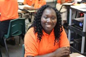 Freshman Scholar in her class