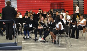Junior High Band students performing.