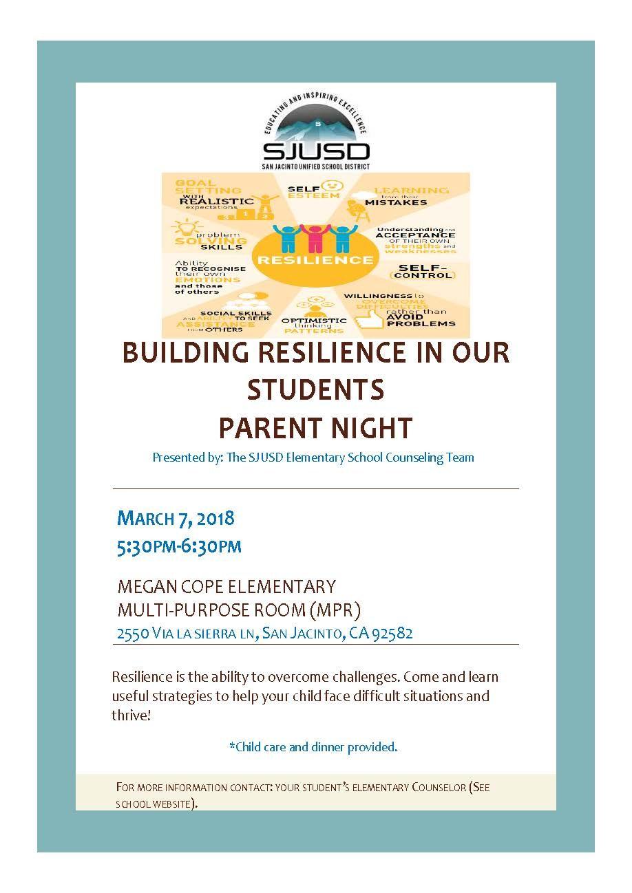 Building Resiliency Parent Workshop