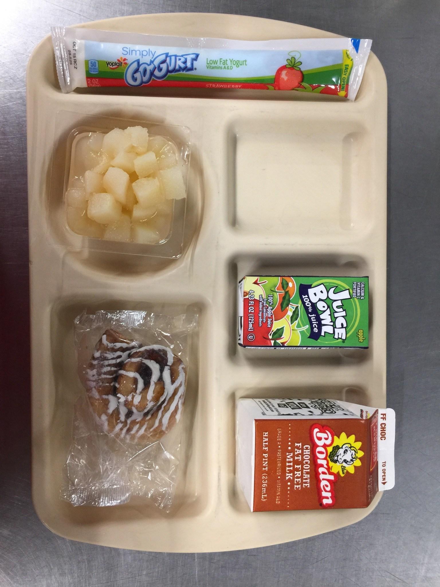 mini cinnamon rolls breakfast tray