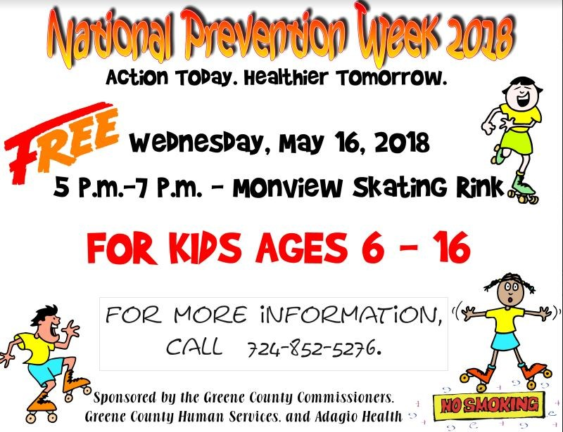 National Prevention Week Skating Party Thumbnail Image
