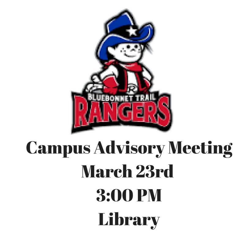 Campus Advisory Meeting- March 23rd Thumbnail Image