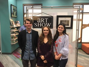 Three Art students