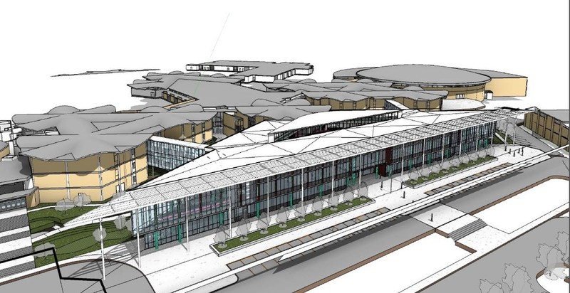 RSTC front of building rendering