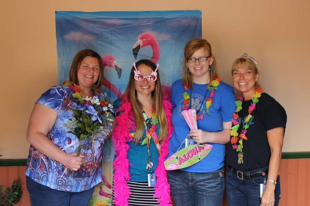 New Teachers pose for dress up pictures