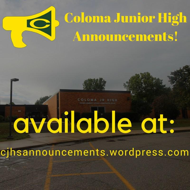 CJHS Announcements
