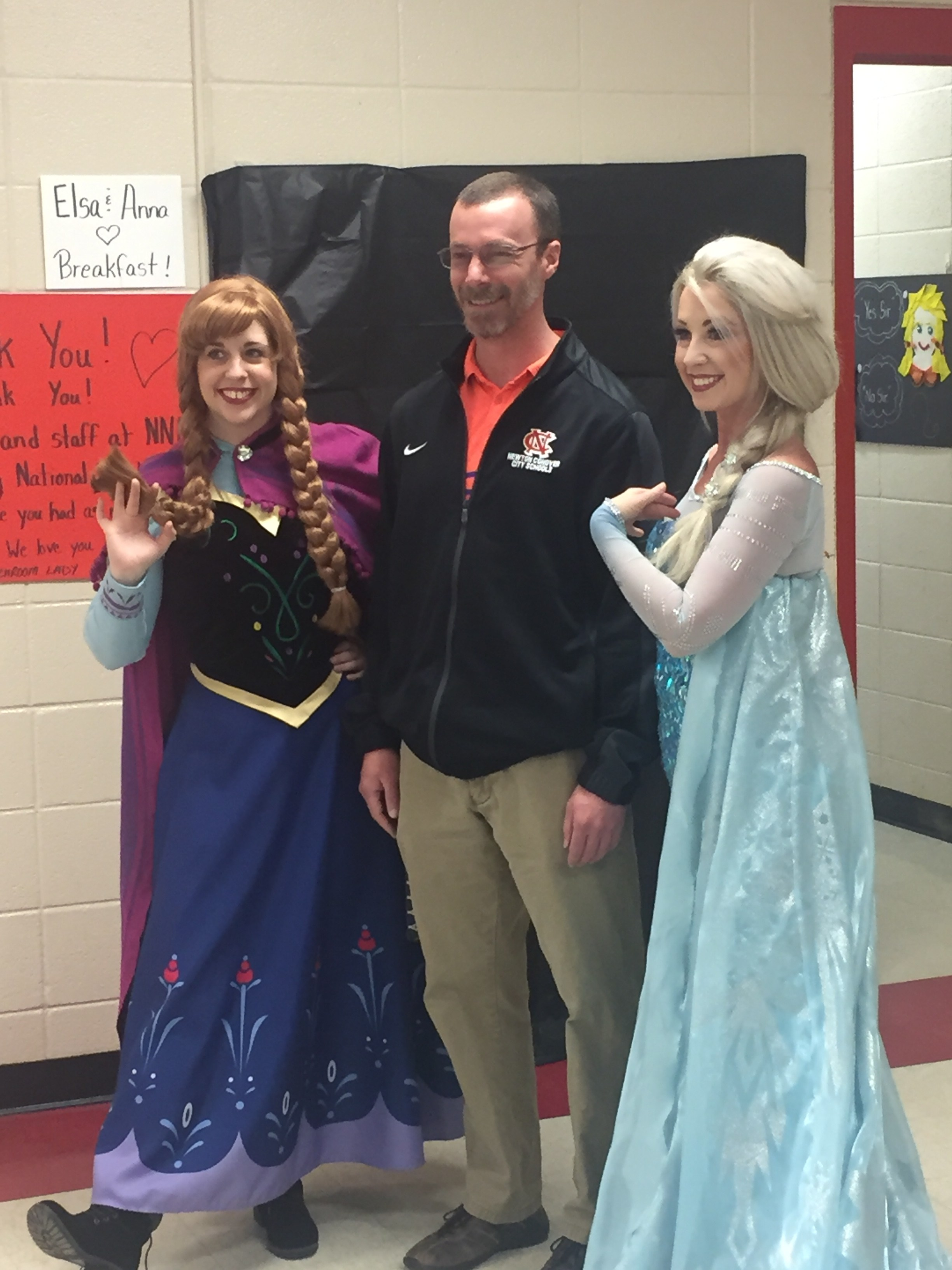 Mr. Whitener and his Princesses