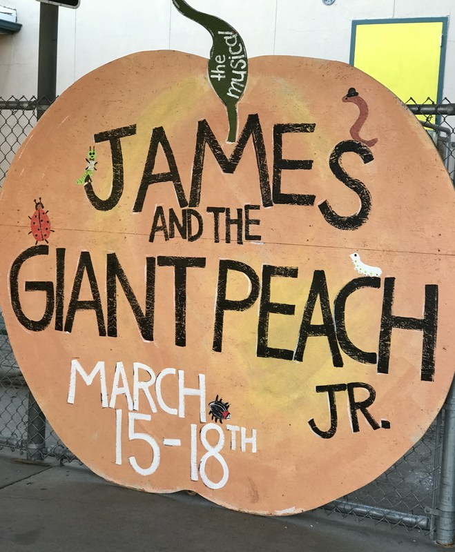 James and the Giant Peach Sign