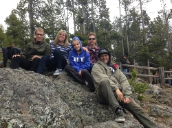 The family at Yellowstone