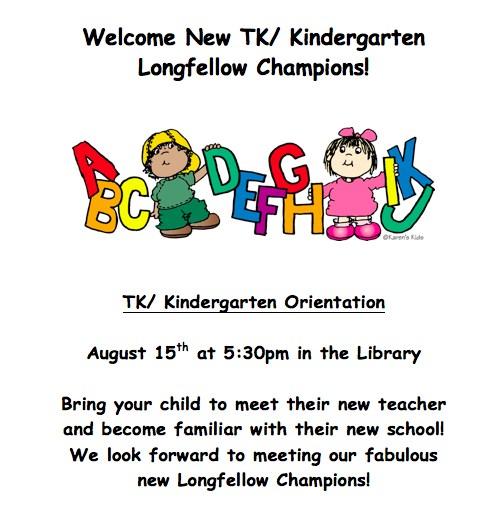 Flyer For TK Kinder Orientation