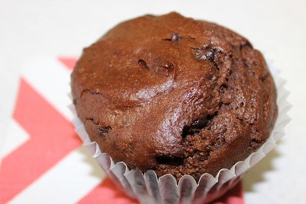 fresh baked chocolate muffin