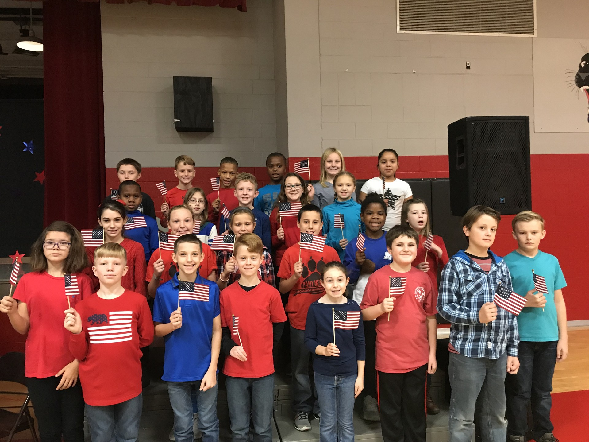 4th graders performing for the Veterans Day Program