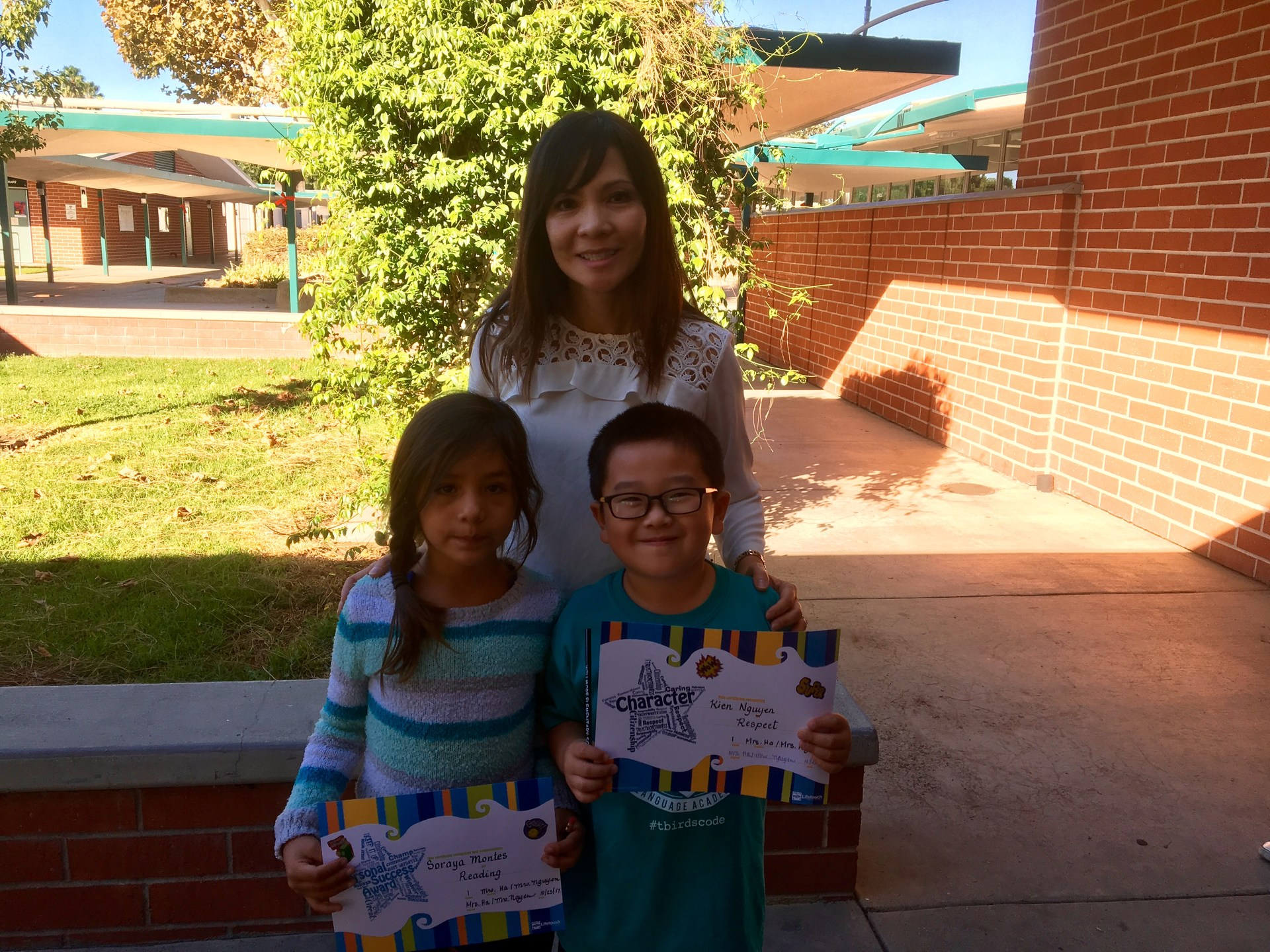 Mrs. Nguyen and Mrs. Ha's October Honorees