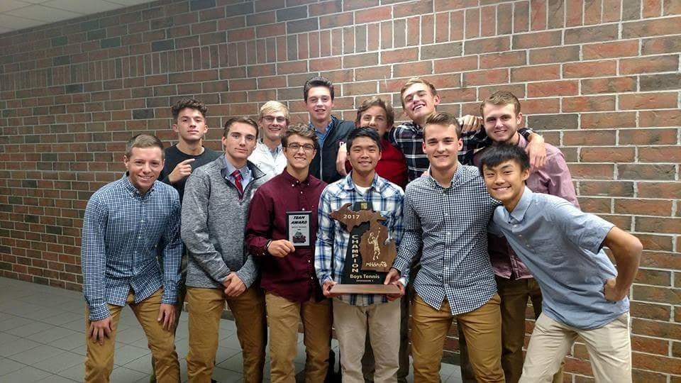 2017 Boys Tennis Team MVP