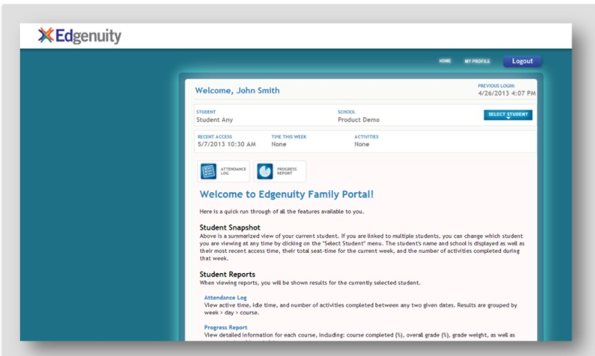 Parent Portal Instructions – Learning Center – San Pasqual High
