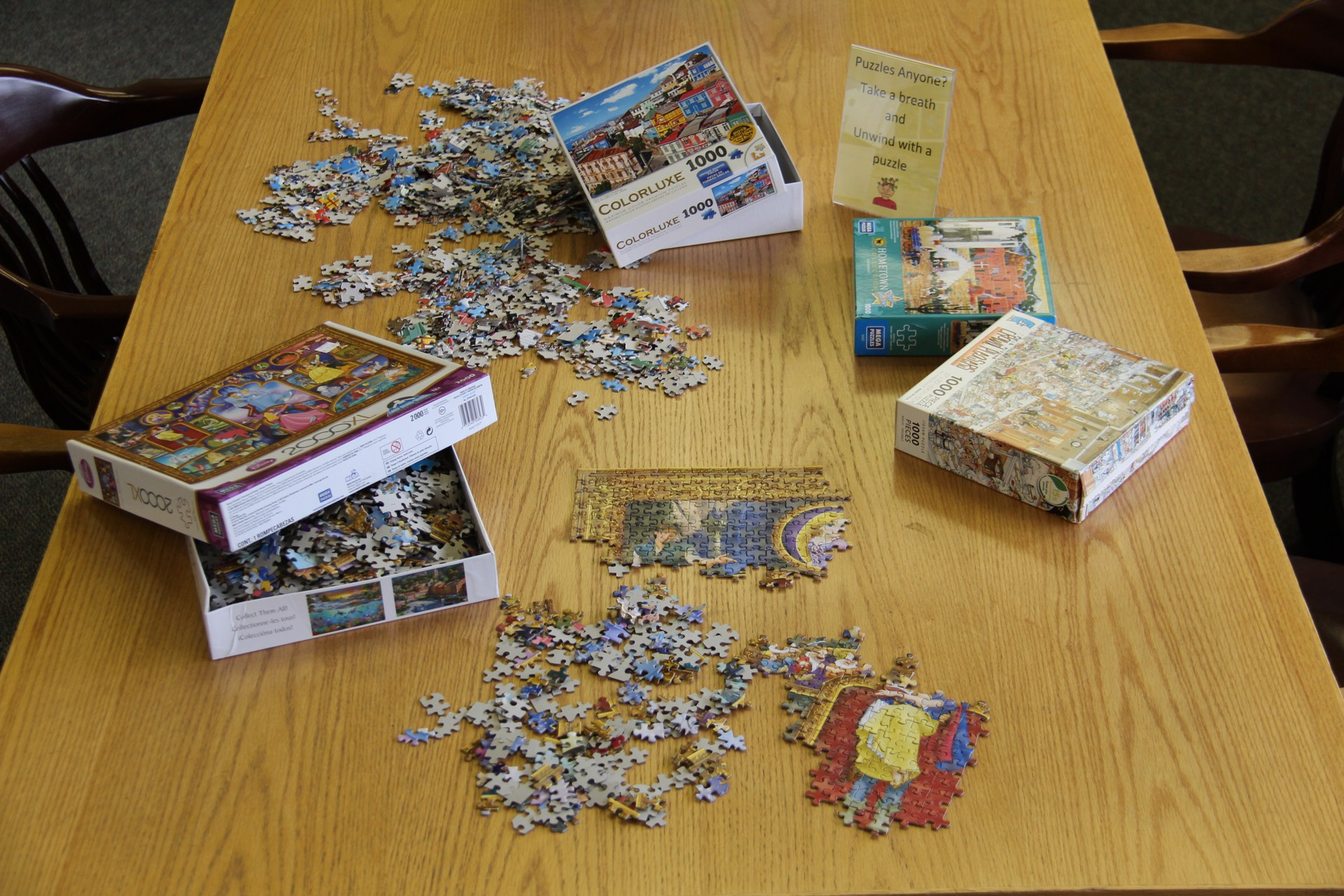 Image of puzzles in Library