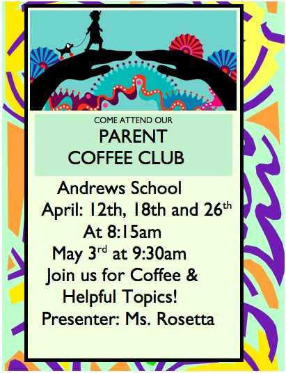 Parent Coffee Club announcement