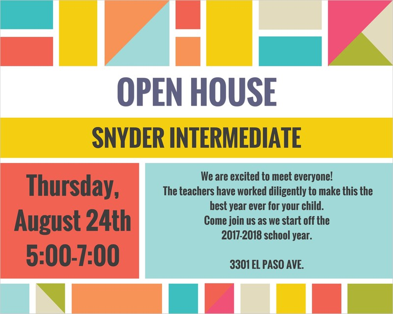 Snyder Intermediate OPEN HOUSE Featured Photo