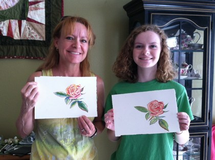 mother daughter painting