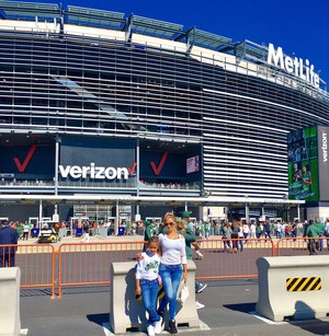 L. Ramirez and her mother infront of MetLife stadium