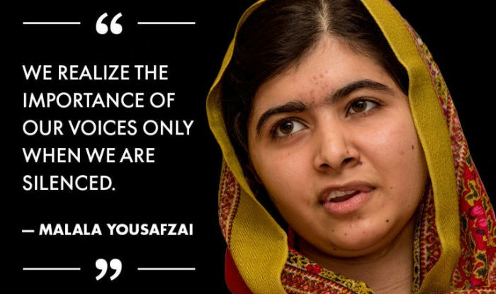 Malala Yousafzi quote: We realize the importance of our voices only when we are silenced.
