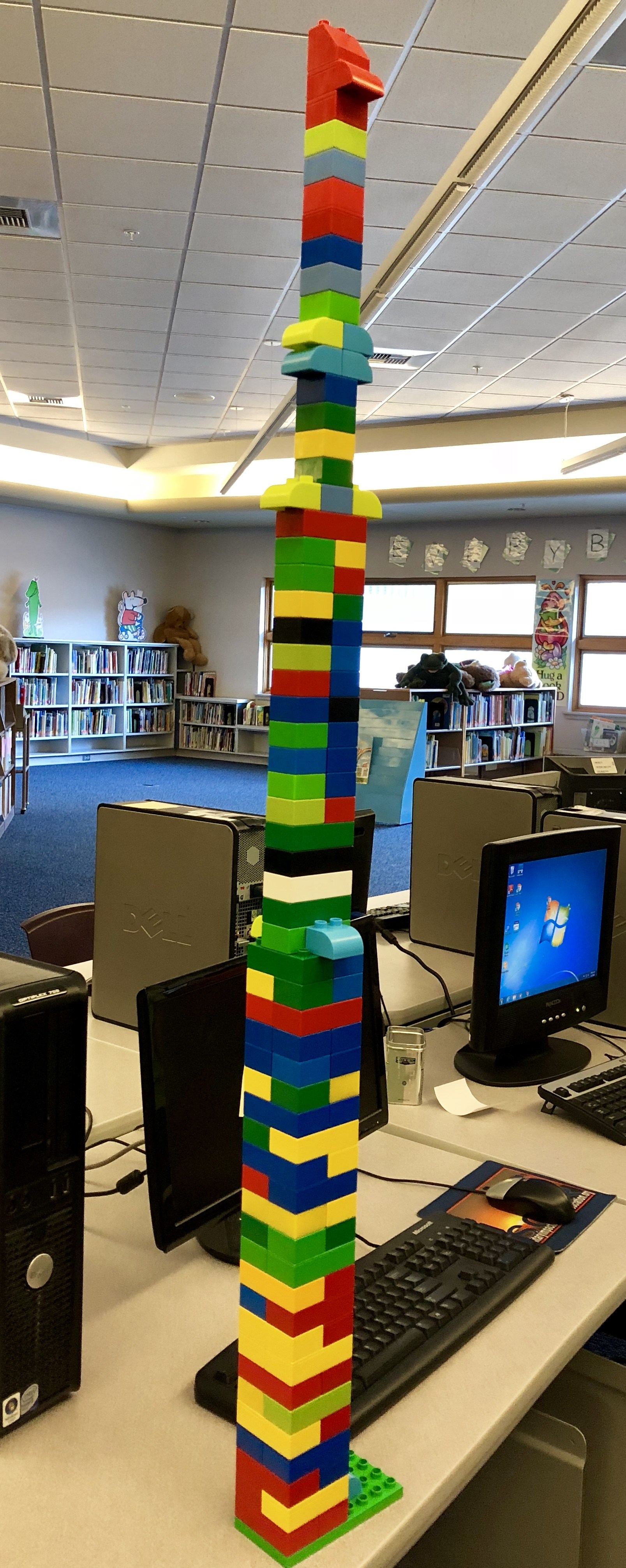 Maker space activity--lego brick towers