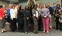 Teachers of the Year pose for a photo at the District Education Center.