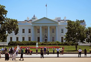 Picture of the White House.